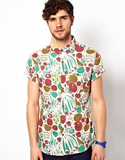 The Critical Slide Society Shirt Short Sleeve Fruit Print