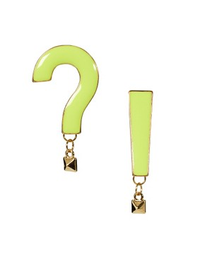 Image 1 ofASOS Exclamation Earrings