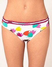 Huit Fish Print Bikini Bottom