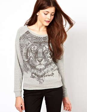 Image 1 ofVero Moda Tiger Sweat Top