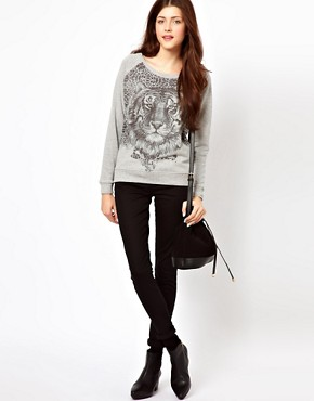 Image 4 ofVero Moda Tiger Sweat Top