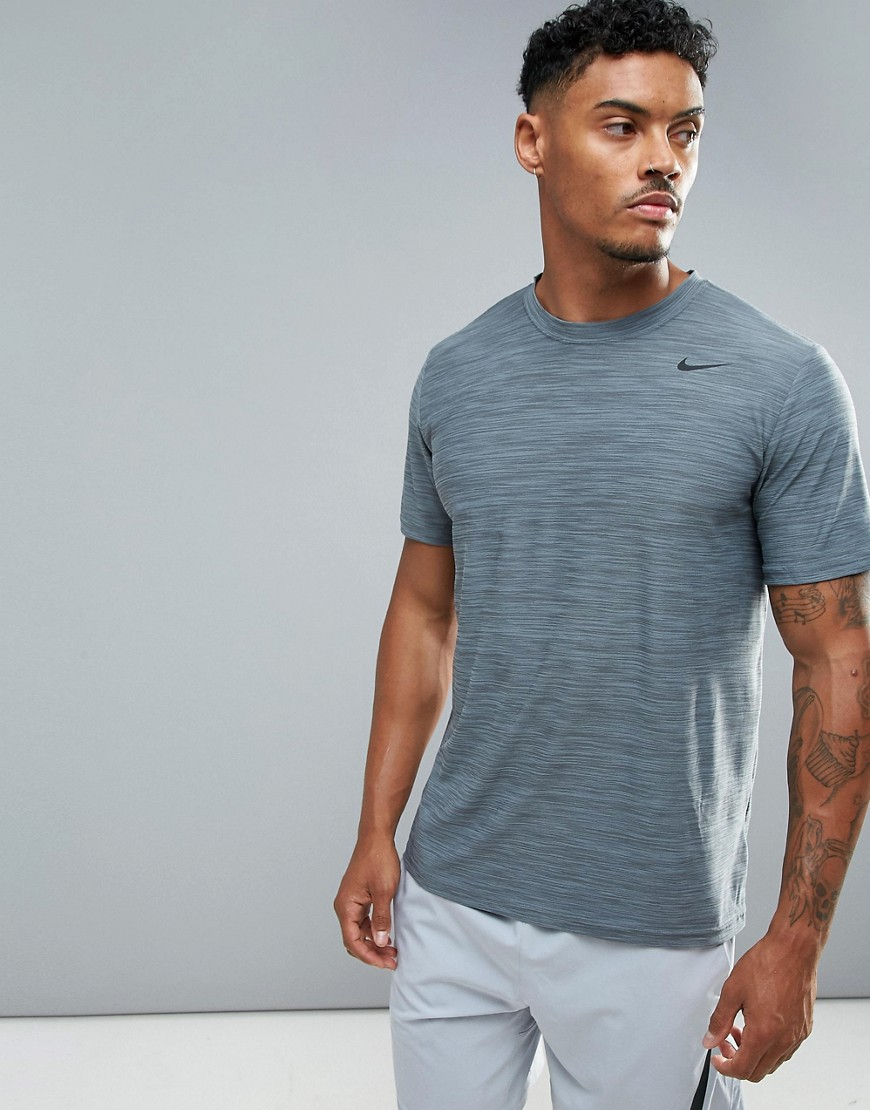 Nike Training Dri-FIT Breathe T-Shirt In Grey 832864-065 - Grey