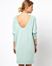 Selected Knitted Dress with Scoop Back