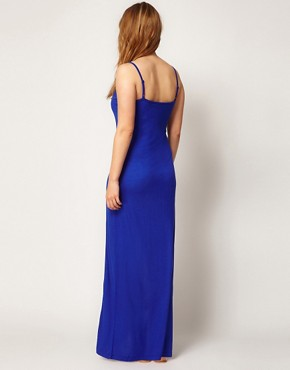 Image 2 ofASOS CURVE Maxi Dress With Thigh Split