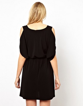 Image 2 ofASOS Maternity Exclusive Dress with Open Shoulder