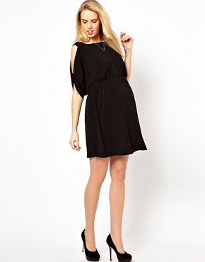 Image 4 ofASOS Maternity Exclusive Dress with Open Shoulder