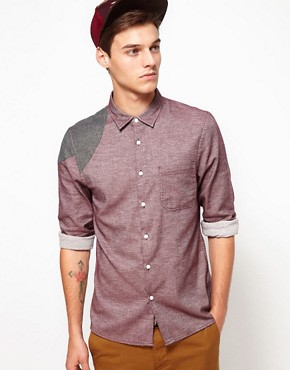 Image 1 ofASOS Brushed Shirt With Shoulder Patches