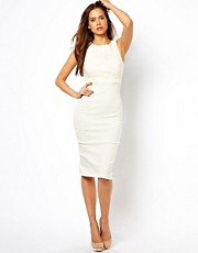 Vesper Midi Dress with Lace Inserts