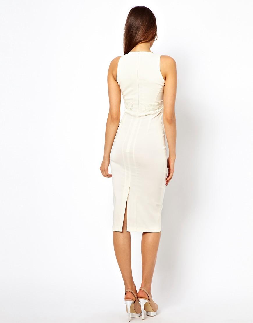 Image 2 ofVesper Midi Dress with Lace Inserts