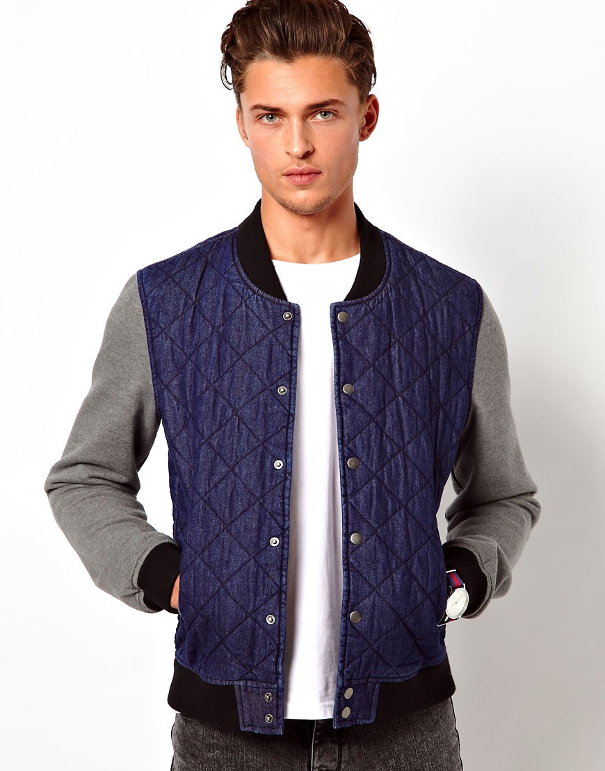 Image 1 of ASOS Denim Bomber Jacket