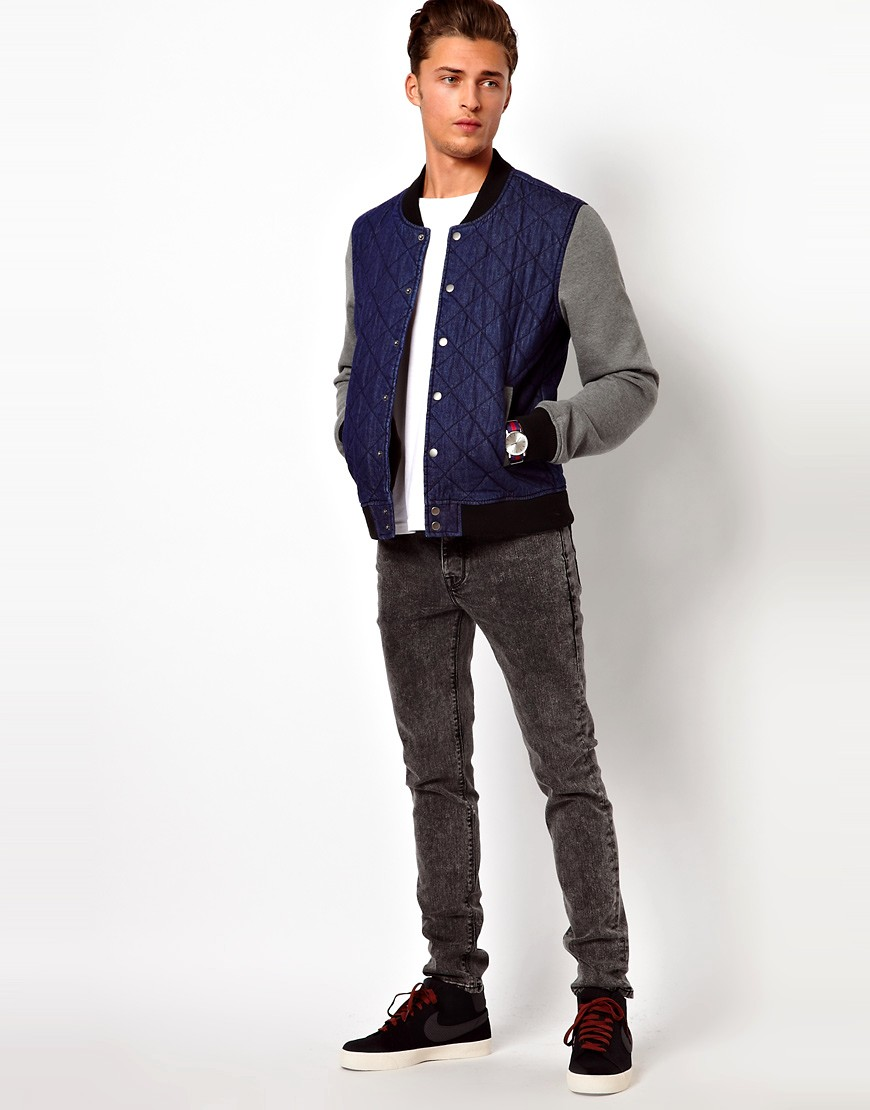 Image 4 of ASOS Denim Bomber Jacket