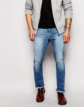 Nudie Jeans Thin Finn Slim Fit Stretch Moody Blue