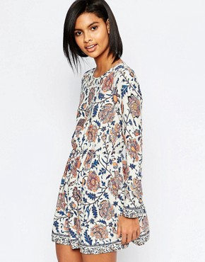 Vero Moda Folk Floral Smock Dress