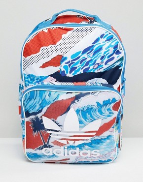 adidas Originals Classic Backpack In Multicolor BK7020