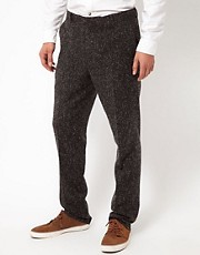 ASOS Slim Fit Suit Trousers in Charcoal Donegal