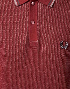 Image 3 ofFred Perry Laurel Wreath Textured Knitted Polo
