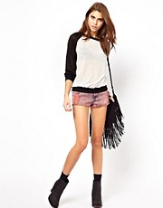 Glamorous Acid Wash Denim Shorts