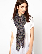 French Connection Ziggy Zag Scarf