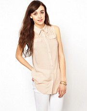 Warehouse Western Lace Tunic Top
