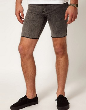 Image 1 of Afends Shorts Skinny Fit Light Wash Denim