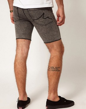 Image 2 of Afends Shorts Skinny Fit Light Wash Denim