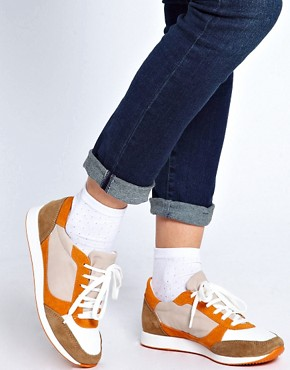 Image 3 ofASOS DOMINO Trainers with Suede Detail