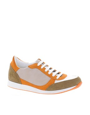 Image 1 ofASOS DOMINO Trainers with Suede Detail