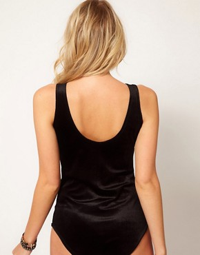 Image 2 ofLove High Neck Body in Velvet