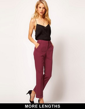 Image 1 of ASOS Trousers With Jet Pocket