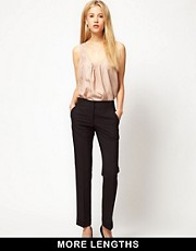 ASOS Trousers With Jet Pocket