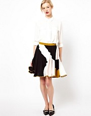 Peter Jensen Panelled Full Skirt