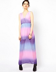 Oh My Love Chiffon Dip Dye Maxi Dress