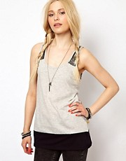 River Island Sequin Racer Tank