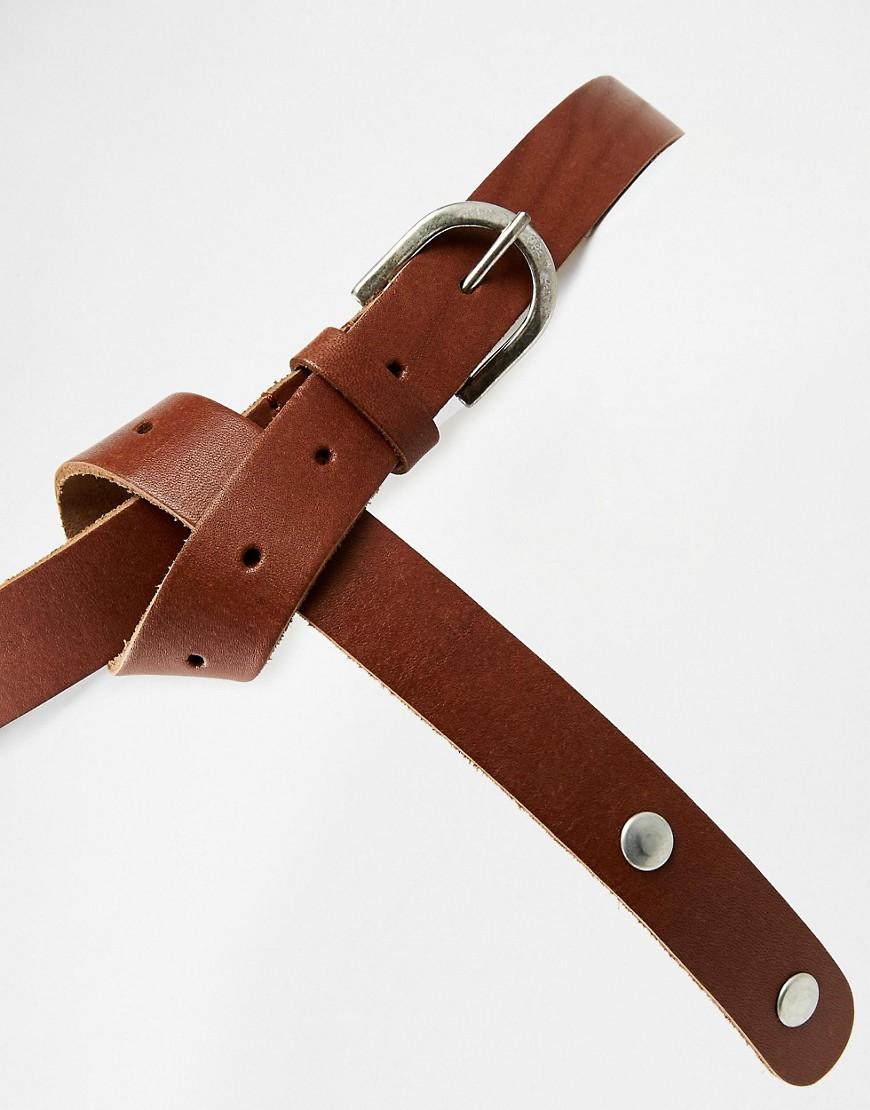 asos asos leather boyfriend waist and hip belt at asos