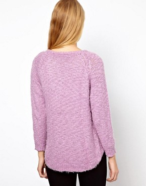 Image 2 ofGanni Fluffy Jumper with Dipped Hem