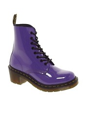 Dr Martens - Clemency Lamper - Stivaletti lucidi viola acceso