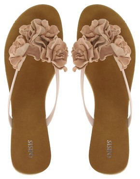 Image 3 ofOasis Floppy Flower Toepost Sandals