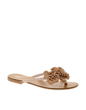 Image 1 ofOasis Floppy Flower Toepost Sandals