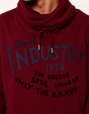 Image 3 ofDiesel Snotra Funnel Neck Hoodie