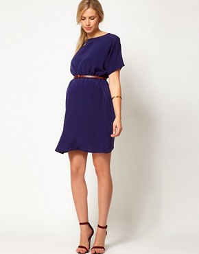 Image 4 ofASOS Maternity Exclusive Woven Dress With Belt