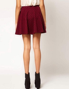 Image 2 ofRiver Island Polka Dot Skater Skirt
