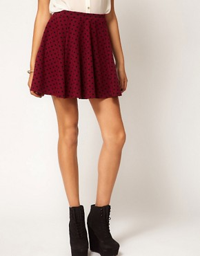 Image 4 ofRiver Island Polka Dot Skater Skirt