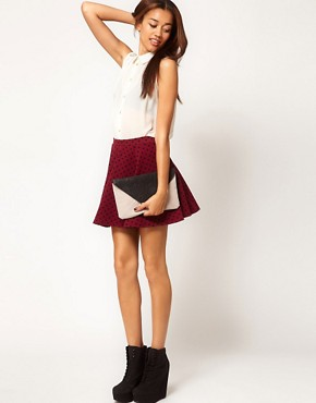 Image 1 ofRiver Island Polka Dot Skater Skirt