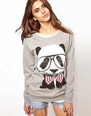 Goodie Two Sleeves Panda Square Sweat Top