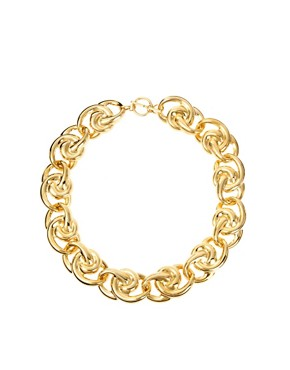 Image 1 ofSusan Caplan Exclusive For ASOS Vintage 80s Sculpted Swirl Chain Necklace