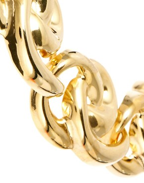 Image 3 ofSusan Caplan Exclusive For ASOS Vintage 80s Sculpted Swirl Chain Necklace