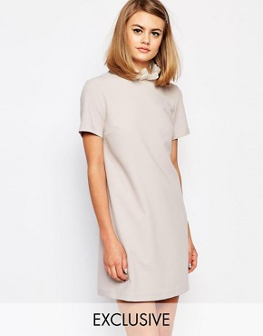 Reclaimed Vintage X Liquid Lunch Shift Dress With Collar Detail