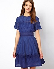 NW3 Edith Cutwork Embroidery Dress