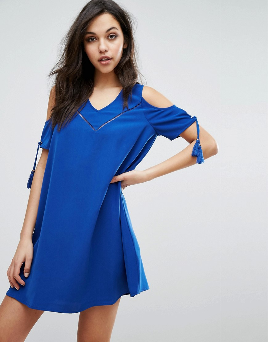 Supertrash Dado Cold Shoulder Dress