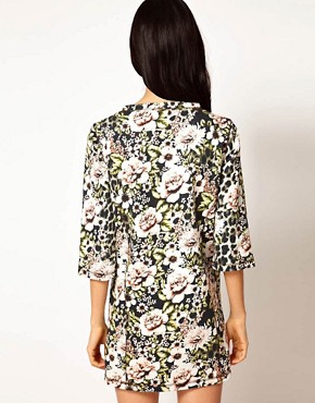 Image 2 ofEmma Cook Sweatshirt Dress in Vintage Floral Print